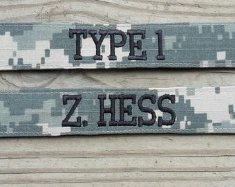 Military Name Tape or Name Patch Army ACU  Custom Name Tapes