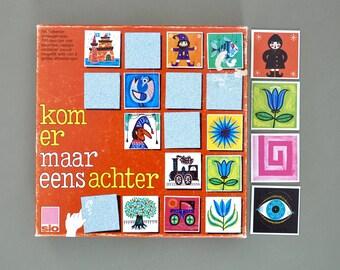 Vintage retro memory game | Vintage game | 60s memory game | vintage toy | vintage crafting
