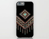 Bohemian Chevron iPhone 7 Case iPhone 6 Plus December Turquoise Boho iPhone 6 iPhone 6s Plus Case iPhone 5s SE Christmas Gift Under 25, 313