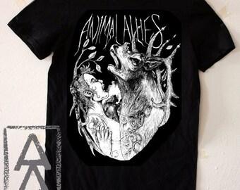 Animal allies vegan shirt punk animal rights