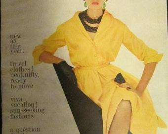 January 1961 BAZAAR Fashion MAGAZINE