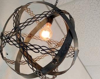Industrial light fixture - orb light - pendant lamp -
