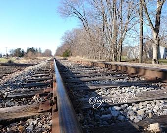 Train Track Close Up Print or Backdrop Angle 1