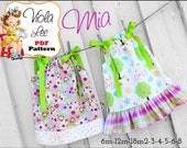 Mia, Pillowcase Dress Patterns. Girl's Dress Patterns. Girls pdf Sewing Patterns. Toddler Dress Patterns. Baby Dresses. PDF Sewing Patterns