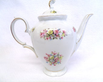 Winterling Schwarzenbach Bavaria, Coffee Pot and Lid, Multi-floral