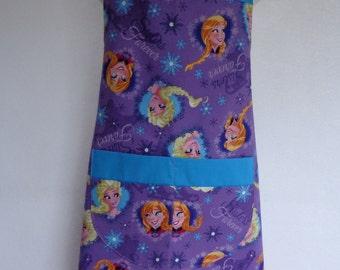 Child Apron: Frozen Purple