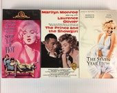 Marilyn Monroe 3 VHS Videotape Collection Movies Some Like It Hot - Seven Year Itch - Prince and the Showgirl