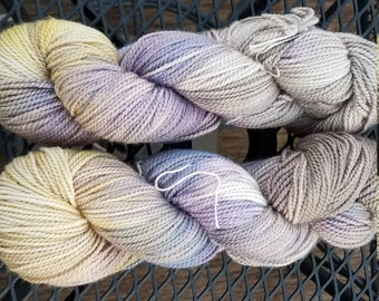Pecan Brown, Purple Haze, Duckling   -Paragon  Hand Painted Hand Dyed