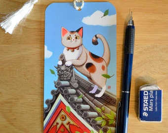 Maneki-Neko Lucky Cat Bookmark
