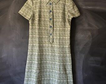 Vintage Mod Multi colored A-line shift dress