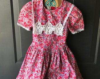 vintage floral jessica mcclintock dress 6x