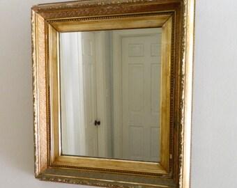 Vintage Gold Gilt Mirror Chippy Ornate