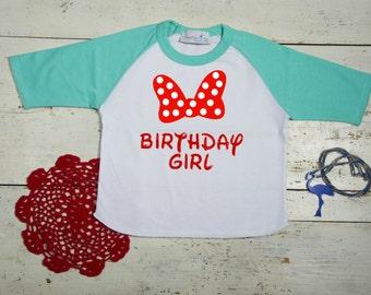 Minnie Mouse shirt - Minnie Mouse Birthday shirt - Minnie Mouse party-Disney Shirts-Minnie Mouse Girl's Shirts-Minnie Mouse Birthday Outfit