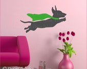 Dachshund Decal, Weiner Dog Sticker, Animal Wall Art, Dog Lover Gift A-117A-S