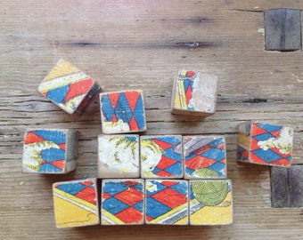 Vintage Wooden Block Jigsaw Puzzle