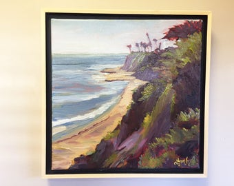 Beach oil painting, Santa Barbara painting, ocean painting,  California beach oil, Beach art, beach painting,  ocean art, ocean painting,
