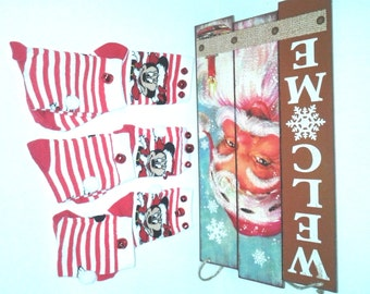 Minnie Mouse Christmas Socks wBells....Girls,Christmas, Partywear, Photo Prop,Gingerbread,Santa,Penquins