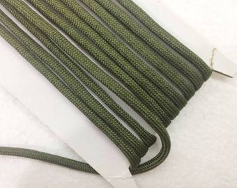 paracord 1.1 Yards (1 meter) dark green Bracelet cord, Decorative Cord, braided cords, Parachute Round Cord, Colorful cord, 4mm wide