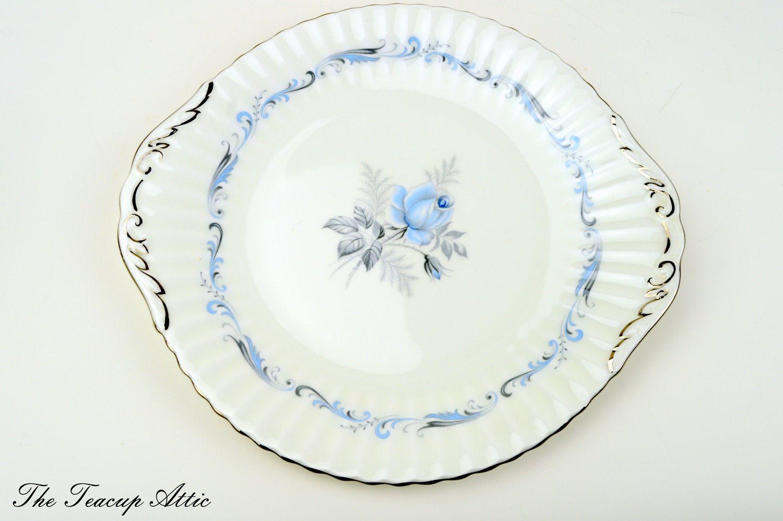 Paragon Morning Rose Cake Plate, English Bone China, Replacement China, Garden Tea Party, ca. 1960-