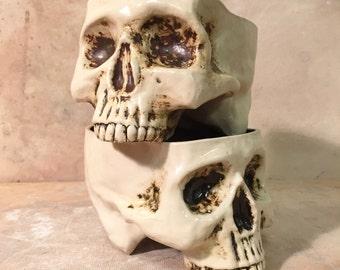 Ceramic Skull Mug set of 2 - by Tony Furtado