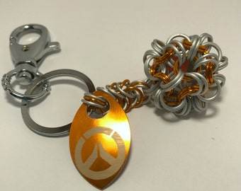 Overwatch Inspired Dodecahedron Key Chain