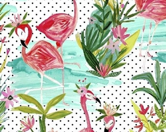 Flamingos - By The Pond in Multi - Melissa Ybarra for Windham Fabrics - 42276-1 - 1/2 yard