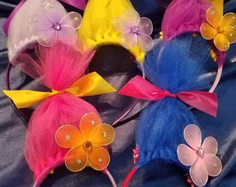 Troll headbands, 8.99 and FREE Shipping, Birthday, Bachelor party, or Disney, any occasion headbands,  Disney Inspired,