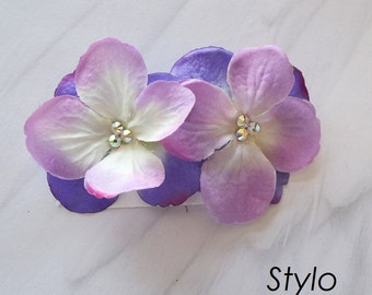 Ombre purple Flower bobby pin Hair Clip