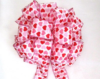 Red Heart Bow, Valentine Bow, Red Bow
