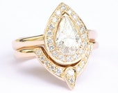 Private Listing - Pear Shaped Diamond Engagement Ring