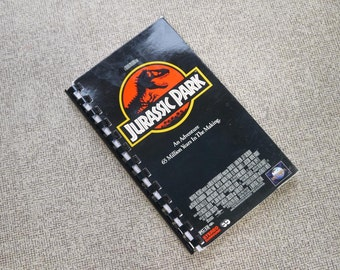 Handmade Jurassic Park 1993 Movie Re-purposed VHS Cover Notebook Journal