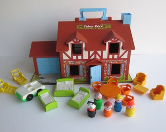 1980 Fisher Price Play Family House FP# 952- Complete