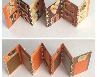 Friends Accordian Styple Pre Made Chipboard Scrapbook Album * Just Add Photos *