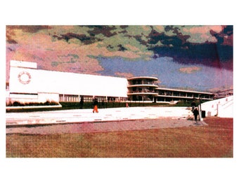 De La Warr Pavilion, Bexhill on Sea : a limited edition silkscreen print