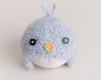 Newborn knit Baby bird hat blue ready to ship Photography Prop RTS