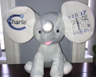 Elephant stuffy baby gift