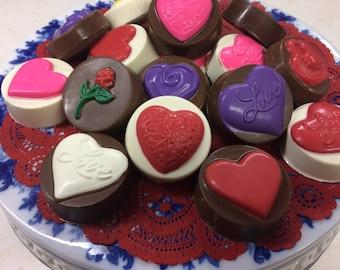 Valentine's Day Chocolate Covered Oreo Cookies