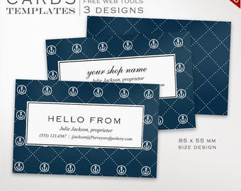 Business Card Template - Nautical Business Card Design Template - DIY Printable Business Card Template Design Moo Europe BCEU AAC
