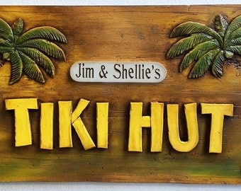 Personalized Tiki Hut Bar Sign