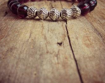 Mala Stretch Bracelet • Amethyst • Stacking Bracelet • Bracelet • Yoga • Mala • Meditation