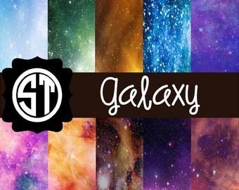 Galaxy Patterns Vinyl (Indoor, Outdoor,  Glitter Vinyl, HTV iron on, Glitter Heat Transfer) Lamination available Mask not included