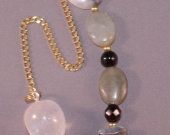 SPRING CLEARANCE Quartz Crystal and Star New Age Dowsing Pendulum 113968P