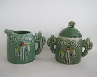 Vintage Arizona Cactus Cream & Sugar