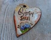 Gypsy Soul Ceramic Pendant Essential Oil Use too