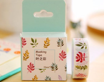 Leaves Washi Tape Masking Tape Planner Stickers Scrapbooking Stickers