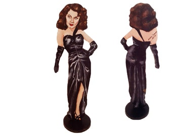 Ava Gardner The Killers Hand Painted 2D Art Figurine
