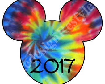 Mickey Mouse Tie dye 2017 Iron-On Digital File