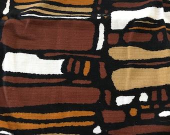 1950-1960's Geometric Print, Heavy Duty Cotton, Yardage or Full Bedspread