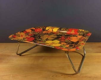 Vintage TV Dinner Tray Fold Out Stands GRoovy RAD piece