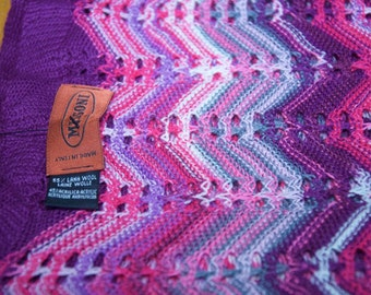 Authentic Missoni Wool Blend Scarf With Original Tag